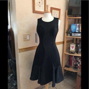 Jovani Black Sleeveless Fit and Flare Short Dress